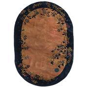 Sale 8911C - Lot 52 - Vintage Chinese Peking Oval Rug, 175x123cm, Handspun Wool