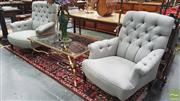 Sale 8404 - Lot 1013 - Pair of Upholstered Armchairs