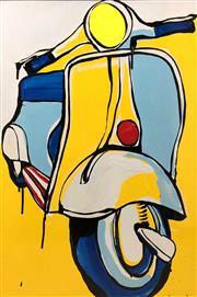 Sale 8723A - Lot 5028 - Jasper Knight (1978 - ) - Blue and Yellow Piagio 90 x 60cm