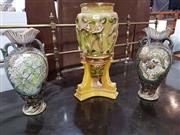 Sale 8740 - Lot 1092 - Pair of Ceramic Vases and an Urn