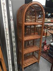 Sale 8822 - Lot 1753 - Cane Open Shelves