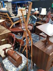 Sale 8863 - Lot 1048 - Folding Artist Easels x 2