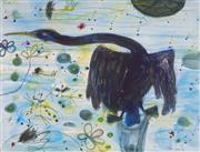 Sale 8929 - Lot 525 - John Olsen (1928 - ) - Cormorant & Jacanas, 1983 83 x 107 cm