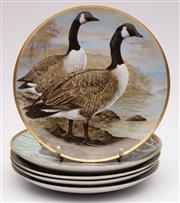 Sale 9052 - Lot 120 - A Collection of Five Franklin Duck Themed Plates (D:23cm)