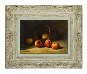Sale 9087H - Lot 23 - Frederic Sauvignier 1873-1949 French nature morte oil on canvas signed 33 x 46 cm in a large carved French frame