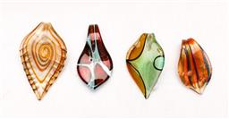 Sale 9110 - Lot 80 - A group of Murano teardrop glass pendants, (H:7cm)