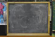Sale 8287 - Lot 1078 - Vintage Blackboard