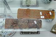 Sale 8308 - Lot 35 - Chinese Resin Pair of Calligraphy Panels