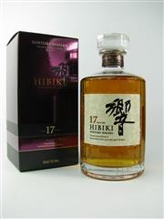 Sale 8329 - Lot 589 - 1x Suntory Whisky 17YO Hibiki Blended Japanese Whisky - 43% ABV, 700ml in box