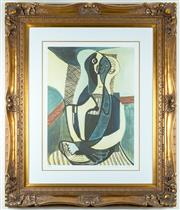 Sale 8338A - Lot 35 - A Collection Domain Picasso giclee lithograph, The Seated Woman, 33/500, in elaborate frame, work size 60 x 46cm