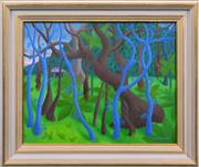 Sale 8408 - Lot 508 - Anne Graham (1925 - ) - Untitled, 1986 (Mystic Forest) 39.5 x 49.5cm