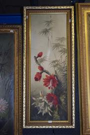 Sale 8410T - Lot 2037 - Artist Unknown (XX) - Floral Still Life 89 x 30cm (frame size)