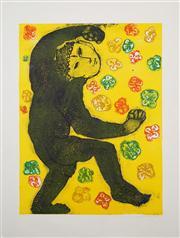 Sale 8433 - Lot 2093 - Rafael Butron (1962 - ) - Untitled (Figures and Flowers) 60 x 44.5cm