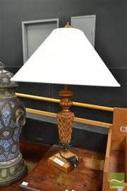 Sale 8515 - Lot 1006 - Pair of Gilt Table Lamps (063194, 063479)