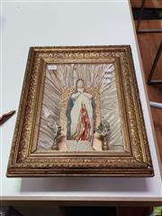Sale 8637 - Lot 1054 - Gilt Framed Petition to the Blessed Virgin