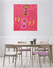 Sale 8786 - Lot 586 - Linda Napurulla Ngitjanka (1935 - ) - Alkipi 101 x 91cm (stretched and ready to hang)