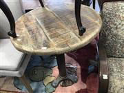 Sale 8868 - Lot 1531 - Pair of Timber Top Cafe Tables