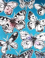 Sale 9034A - Lot 5011 - David Bromley (1960 - ) - Butterflies 89 x 70 cm (92 x 111 x 5 cm)