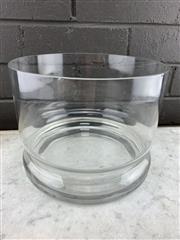 Sale 9056 - Lot 1045 - Large Scandinavian Hooped AV229/11 Glass Vase, Probably Alsterfors. Small chip to rim. (d:23cm