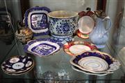 Sale 8327 - Lot 86 - Coalport Plates & Other English Ceramics incl Blue & White (Some Damage & Restorations)