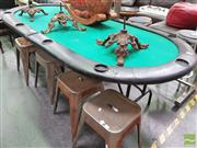 Sale 8424 - Lot 1039 - Large Foldout Poker Table -(missing cups)