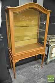Sale 8440 - Lot 1009 - Display Cabinet on Cabriole Legs