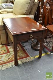Sale 8515 - Lot 1053 - Pair of Drexel Side Tables with Single Drawer (060813, 061476)