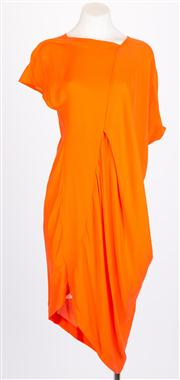 Sale 8640F - Lot 18 - A Willow asymmetrical orange silk dress, size 8.