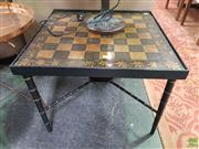 Sale 8637 - Lot 1049 - Oriental Inlaid Checkers Table