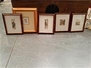 Sale 8682 - Lot 2088 - 5 Framed Artworks