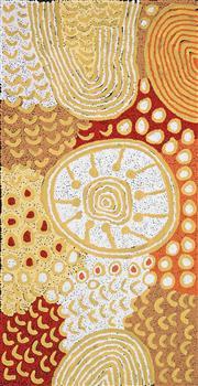 Sale 8696 - Lot 512 - Marlene Young Nungurrayi (1973 - ) - Minyma Tjukurrpa 95 x 49cm