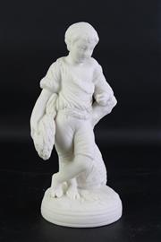 Sale 8840 - Lot 2 - Small Possibly Porcelaine De Paris Figure Of A Boy H: 23cm