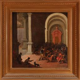 Sale 8960J - Lot 3 - Attributed to Emanuel de Witte (1617-1692) Dutch - Christ Presented Before Pontius Pilate 57 x 57cm