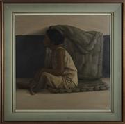 Sale 9061 - Lot 2045 - Artist Unknown - Portrait of Young Filipino Woman, 1971 60 x 60 cm (frame: 79 x 79 x 4 cm)