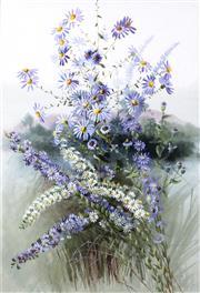 Sale 9067 - Lot 546 - Marian Ellis Rowan (1848 - 1922) - North American Asters 50 x 34 cm (frame: 74 x 47 x 3 cm)