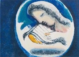 Sale 9141 - Lot 599 - Charles Blackman (1928 - 2018) The Singer - Orpheus Suite, 1998 lithograph, ed. 11/70 68 x 90 cm (frame: 104 x 122 x 4 cm) signed an...