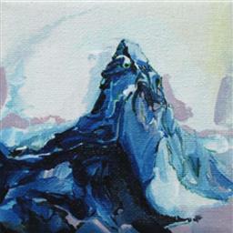 Sale 9249A - Lot 5054 - IRENE HANENBERGH (1966 - ) White Periwinkle Table oil on canvas 10 x 10 cm .