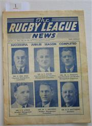 Sale 8404S - Lot 1 - 1957 Rugby League News Grand Final Programme, Sept 21 (Vol.38, No.30), St George v Manly