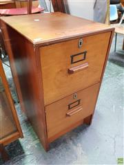 Sale 8585 - Lot 1084 - Vintage Two Drawer Filing Cabinet