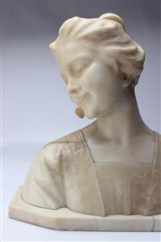 Sale 8710 - Lot 2 - Edwardian Marble Bust Of A Lady
