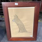 Sale 9011 - Lot 2018 - Greg Hyde Puppy, 1998, wash and body on paper, frame: frame: 41 x 33 cm, signed lower right