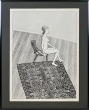 Sale 8358 - Lot 538 - John Brack (1920 - 1999) - Nude in Profile, 1978 64.5 x 47.2cm