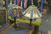 Sale 8352 - Lot 1041 - Leadlight table lamps x 2