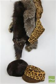 Sale 8490 - Lot 102 - Cornelius Fur Hat with another Together with Fur Stoles inc Fox Example