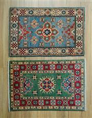 Sale 8585C - Lot 61 - 2 x Afghan Kazak Mats 90cm x 60cm