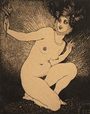 Sale 8658A - Lot 5081 - Norman Lindsay (1879 - 1969) - The Bauble, 1924 14 x 11cm