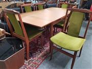 Sale 8863 - Lot 1069 - Chiswell Seven Piece Dining Setting incl. Drawer Leaf Extension Table & Six Chairs