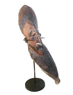 Sale 9142A - Lot 5085 - PNG East Sepik River Ancestor figure, Maprik: curved shape, with natural pigments, 34 x 10 cm