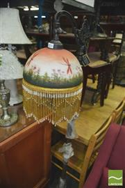 Sale 8352 - Lot 1076 - Standard Lamp with Glass hanging Shade