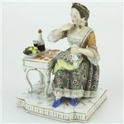 Sale 8379 - Lot 81 - Ludwigsburg Figure of a Female Tippler